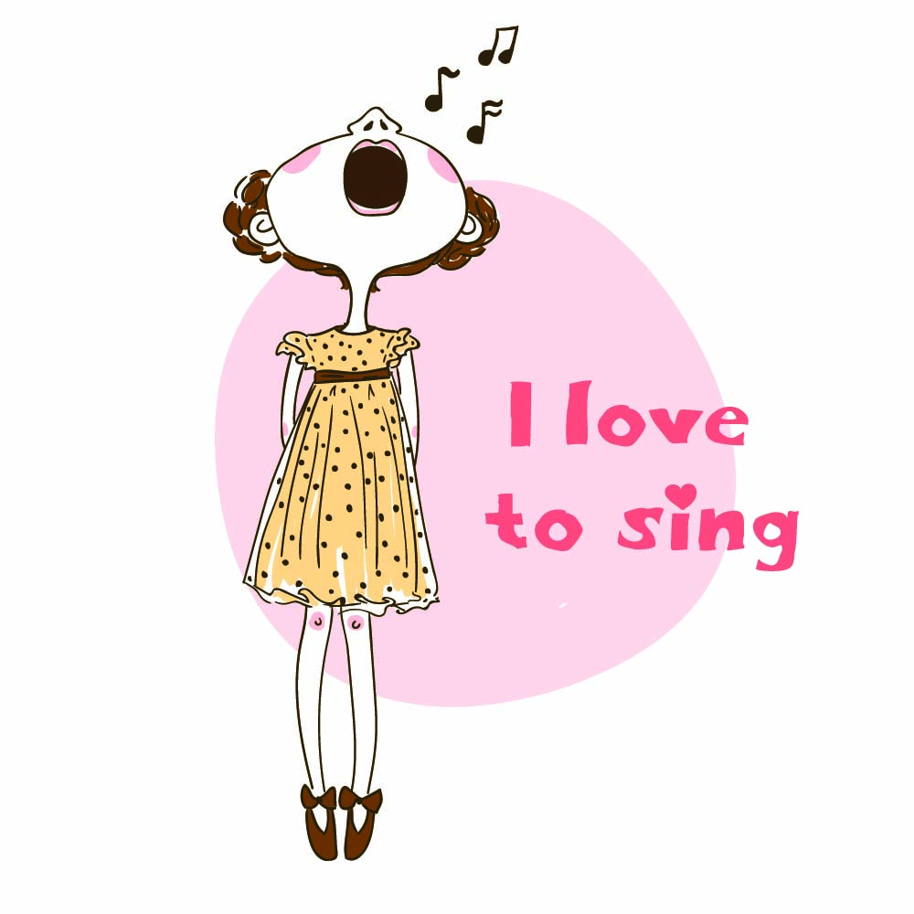 I love to sing